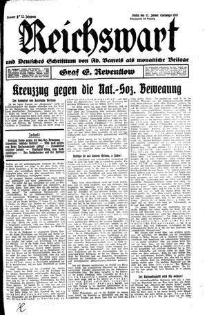 Reichswart vom 17.01.1931