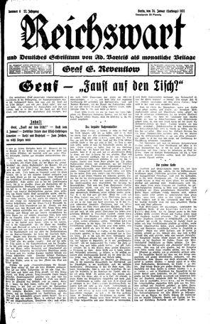 Reichswart vom 24.01.1931