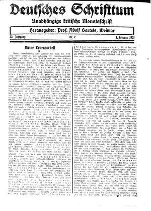 Reichswart vom 07.02.1931
