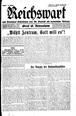 Reichswart vom 17.02.1931
