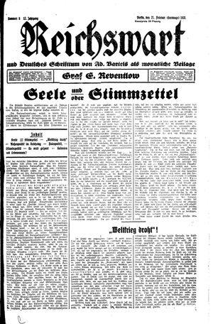 Reichswart vom 21.02.1931