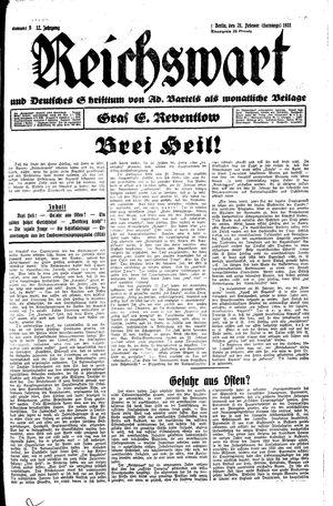 Reichswart vom 28.02.1931
