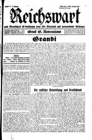 Reichswart vom 21.03.1931