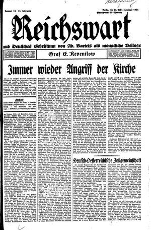 Reichswart vom 28.03.1931