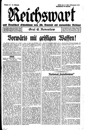 Reichswart vom 11.04.1931