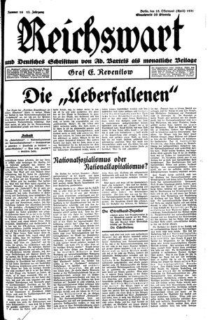 Reichswart vom 18.04.1931