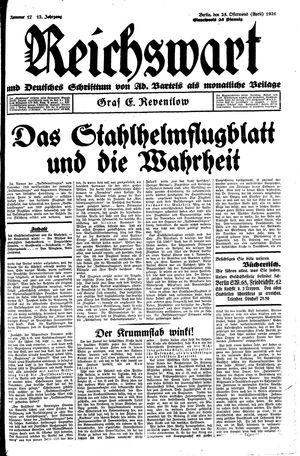 Reichswart vom 25.04.1931