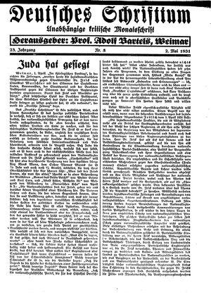 Reichswart vom 02.05.1931