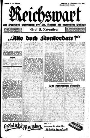 Reichswart vom 23.05.1931