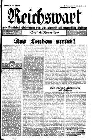 Reichswart vom 13.06.1931
