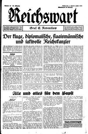 Reichswart vom 04.07.1931