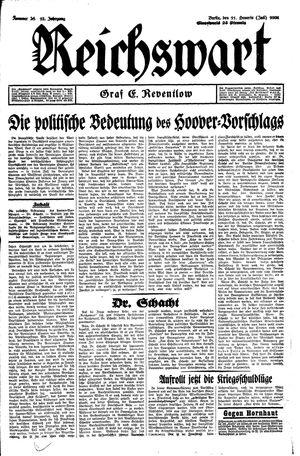 Reichswart vom 11.07.1931