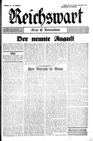 Reichswart vom 15.08.1931