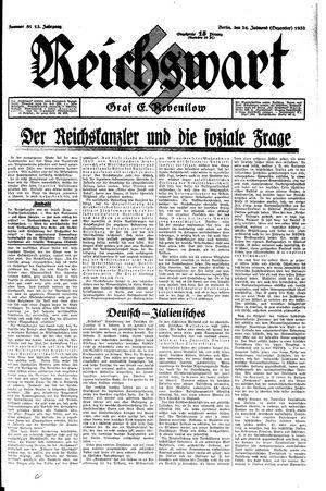 Reichswart vom 24.12.1932