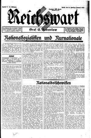 Reichswart vom 14.01.1933