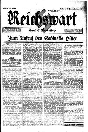 Reichswart vom 12.02.1933