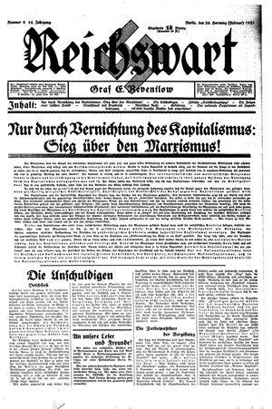 Reichswart on Feb 26, 1933