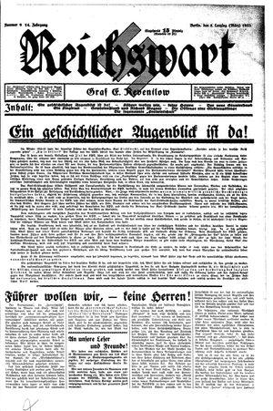 Reichswart vom 05.03.1933