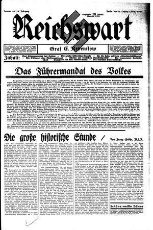 Reichswart vom 12.03.1933