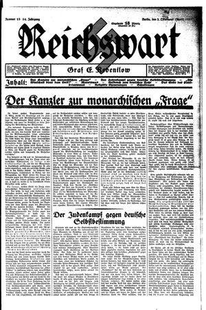 Reichswart vom 02.04.1933