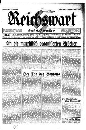 Reichswart vom 09.04.1933