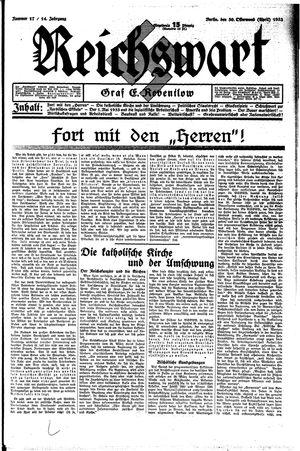 Reichswart vom 30.04.1933