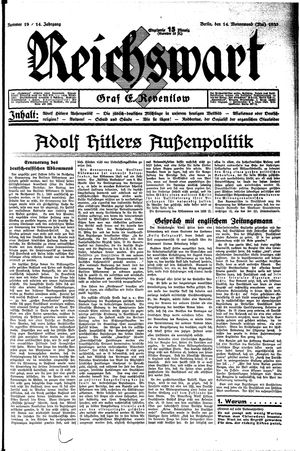 Reichswart on May 14, 1933