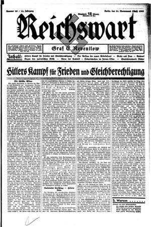 Reichswart vom 21.05.1933
