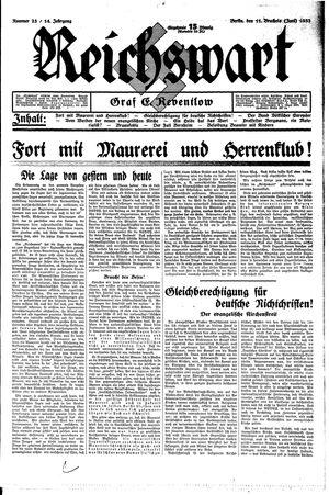 Reichswart vom 11.06.1933