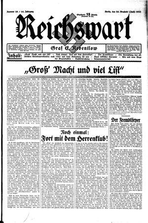 Reichswart vom 25.06.1933