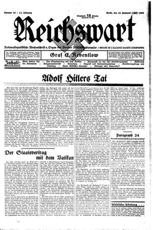 Reichswart vom 16.07.1933