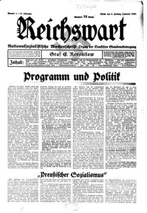 Reichswart vom 06.01.1935