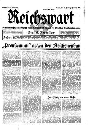 Reichswart vom 20.01.1935