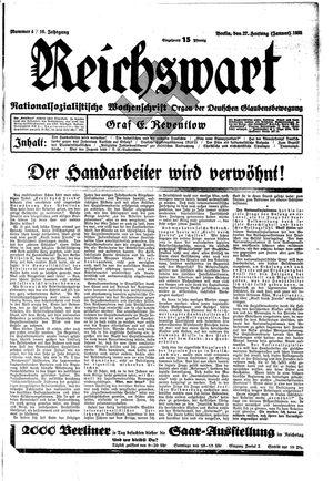 Reichswart vom 27.01.1935