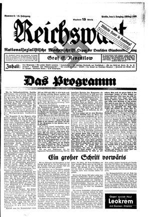 Reichswart vom 03.03.1935