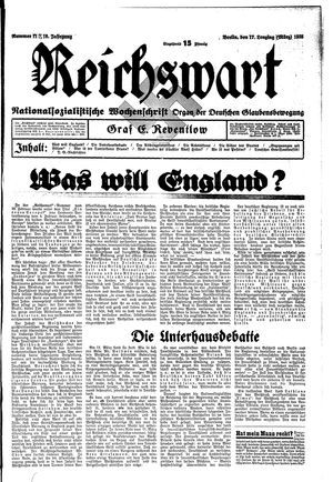 Reichswart vom 17.03.1935