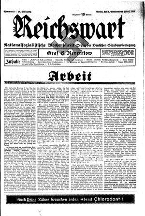 Reichswart vom 05.05.1935