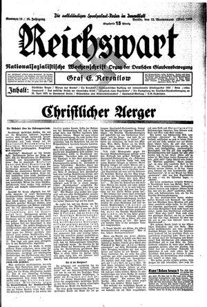 Reichswart vom 12.05.1935