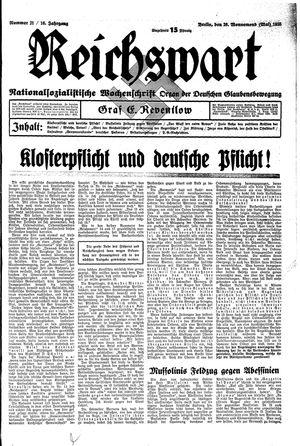 Reichswart vom 26.05.1935