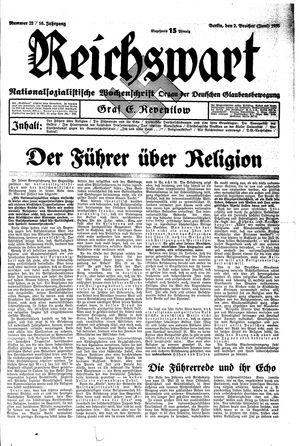 Reichswart vom 02.06.1935