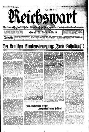 Reichswart vom 16.06.1935
