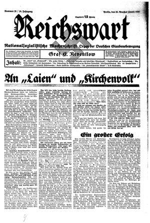 Reichswart vom 23.06.1935