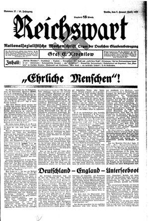 Reichswart vom 07.07.1935