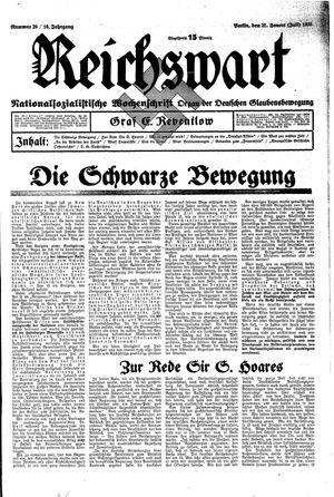 Reichswart vom 21.07.1935