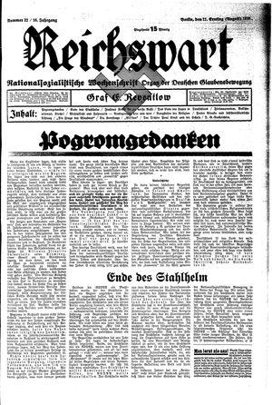 Reichswart vom 11.08.1935