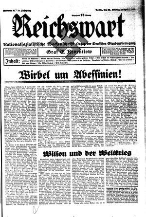 Reichswart vom 22.08.1935