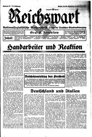 Reichswart vom 15.09.1935