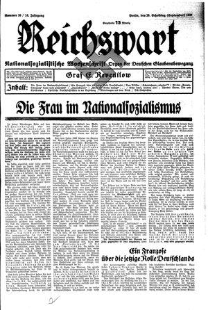 Reichswart vom 29.09.1935