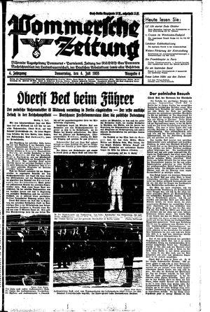 Pommersche Zeitung vom 04.07.1935