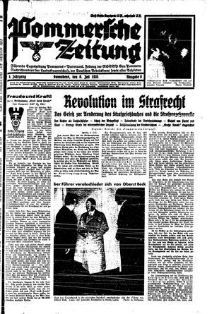 Pommersche Zeitung vom 06.07.1935